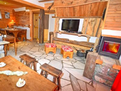 Vacances en montagne Chalet Pierra Menta - Peisey-Vallandry - Cheminée