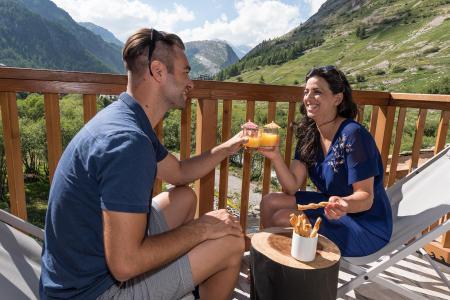 Vacances en montagne Chalet Skadi - Val d'Isère - Balcon