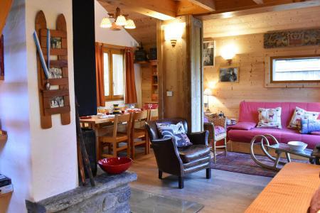 Holiday in mountain resort 3 room duplex chalet 6-8 people (tarnad) - Chalet Tara - Méribel - Living room