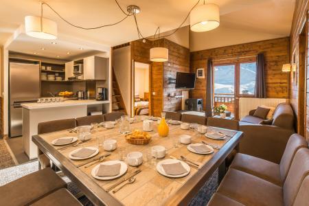 Vacances en montagne Appartement 7 pièces mezzanine 12-14 personnes - Chalet Val 2400 - Val Thorens - Séjour