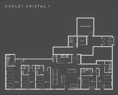 Wakacje w górach Apartament 6 pokojowy 11 osób (1P) - Chalet Val d'Isère Cristal - Val d'Isère - Plan
