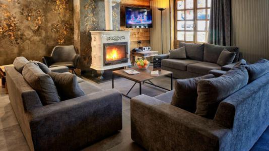 Wakacje w górach Apartament 6 pokojowy 11 osób (1P) - Chalet Val d'Isère Cristal - Val d'Isère - Piecem na drewno
