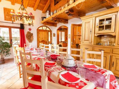 Holiday in mountain resort Chalet Villaroger - Les Arcs - Dining area