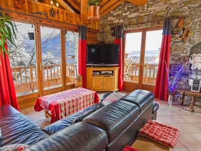 Holiday in mountain resort Chalet Villaroger - Les Arcs - Living room