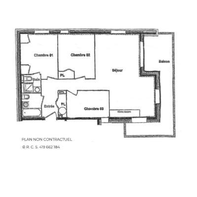 Vacances en montagne Appartement 4 pièces 6 personnes (B4) - Chalets du Doron - Les Menuires - Plan