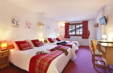 Holiday in mountain resort Quadruple bedroom (2 people) - Hôtel du Bourg - Valmorel - Double bed