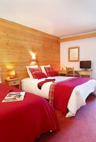 Holiday in mountain resort Quadruple bedroom (2 people) - Hôtel du Bourg - Valmorel - Single bed