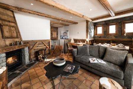 Urlaub in den Bergen Hôtel les Suites du Montana - Tignes - Kamin