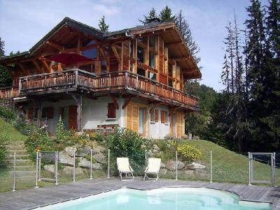 Rent in ski resort 7 room chalet 10 people (1) - L'Epachat - Saint Gervais - Summer outside