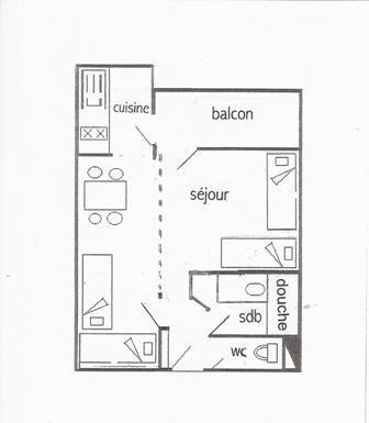 Wakacje w górach Studio 4 osoby (19) - La Résidence Aigue-Marine - La Plagne