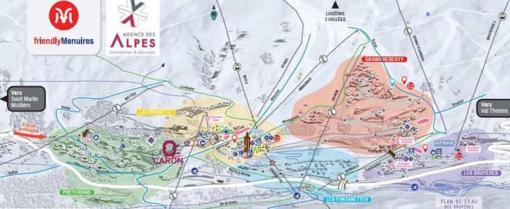 Vacances en montagne La Résidence Caron - Les Menuires - Plan