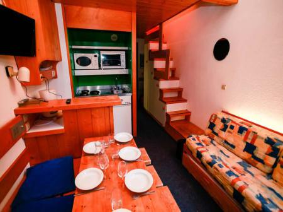 Holiday in mountain resort Studio mezzanine 4 people (335) - La Résidence l'Archeboc - Les Arcs - Living room