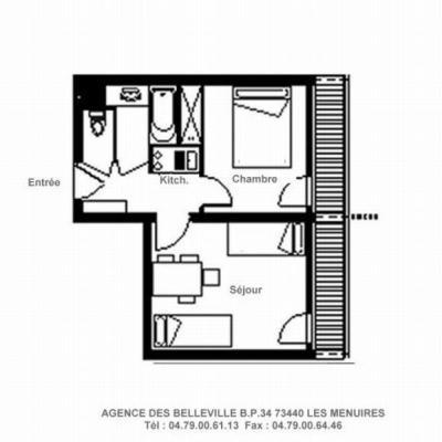 Vacances en montagne Appartement 2 pièces 4 personnes (828) - La Résidence la Chavière - Les Menuires