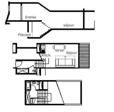 Holiday in mountain resort Studio sleeping corner 4 people (426) - La Résidence le Danchet - Les Menuires