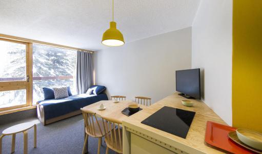 Holiday in mountain resort Studio sleeping corner 4 people (209) - La Résidence le Miravidi - Les Arcs - Living room
