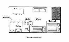 Holiday in mountain resort Studio cabin 4 people (1107) - La Résidence les Cîmes de Caron - Val Thorens - Plan