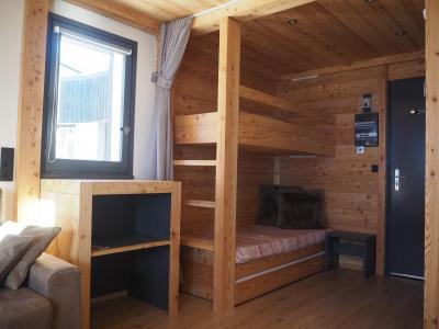 Holiday in mountain resort Studio sleeping corner 4 people (0412) - La Résidence les Gentianes - Les Menuires - Bunk beds