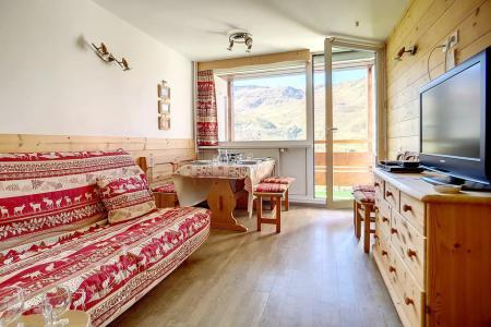 Holiday in mountain resort 2 room duplex apartment 5 people (E18) - La Résidence les Lauzes - Les Menuires - Living room