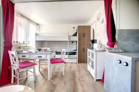 Holiday in mountain resort Studio 4 people (C1) - La Résidence les Lauzes - Les Menuires - Bunk beds