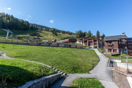 Location au ski Studio 4 personnes (008) - La Résidence les Pentes - Montchavin La Plagne - Extérieur été