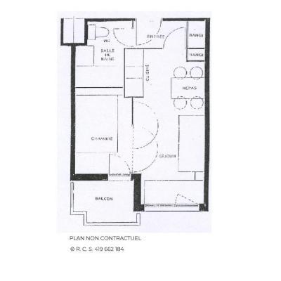 Vacances en montagne Appartement 2 pièces 4 personnes (618) - La Résidence Médian - Les Menuires - Plan