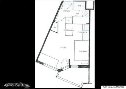 Vacances en montagne Appartement 2 pièces 4 personnes (515) - La Résidence Médian - Les Menuires - Plan