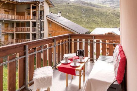Urlaub in den Bergen 2-Zimmer-Berghütte für 4 Personen (2102) - La Résidence Ski Soleil - Les Menuires - Balkon