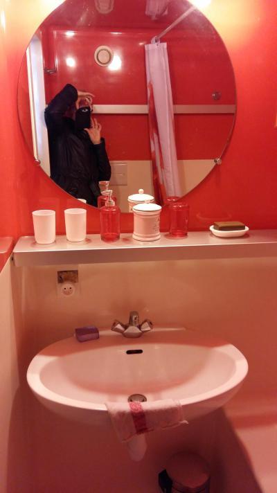Holiday in mountain resort Studio sleeping corner 4 people (0858) - La Résidence Varet - Les Arcs - Wash-hand basin