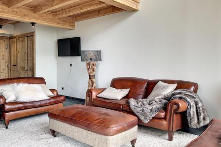 Holiday in mountain resort 4 room triplex chalet 6 people (Carcosa) - Le Hameau de Caseblanche - Saint Martin de Belleville - Living room