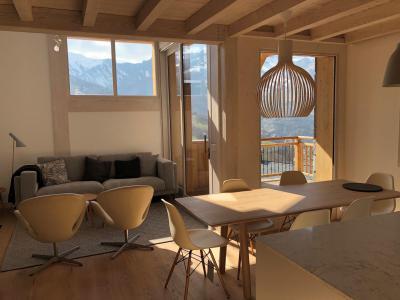 Holiday in mountain resort 4 room triplex chalet 6 people (Retreat) - Le Hameau de Caseblanche - Saint Martin de Belleville - Living room