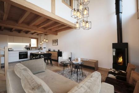 Holiday in mountain resort 4 room triplex chalet 6 people (Selini) - Le Hameau de Caseblanche - Saint Martin de Belleville - Living room
