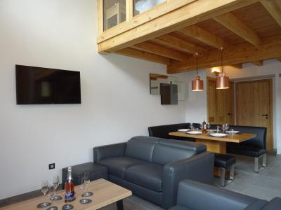 Holiday in mountain resort 4 room triplex chalet 6 people (Suzan) - Le Hameau de Caseblanche - Saint Martin de Belleville - Living room