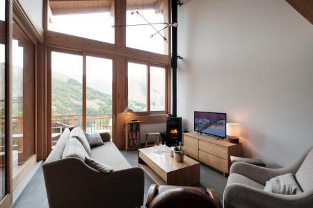 Holiday in mountain resort 5 room triplex chalet 8 people (Eceel) - Le Hameau de Caseblanche - Saint Martin de Belleville - Living room