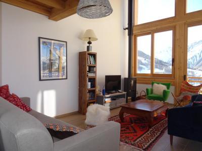 Holiday in mountain resort 5 room triplex chalet 8 people (Pomme de Pin) - Le Hameau de Caseblanche - Saint Martin de Belleville - Living room
