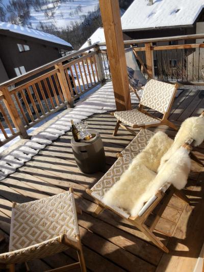 Holiday in mountain resort 5 room triplex chalet 8 people (Retrouvailles) - Le Hameau de Caseblanche - Saint Martin de Belleville - Terrace