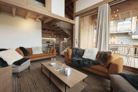 Holiday in mountain resort 5 room triplex chalet 8 people (Winterfold) - Le Hameau de Caseblanche - Saint Martin de Belleville - Living room