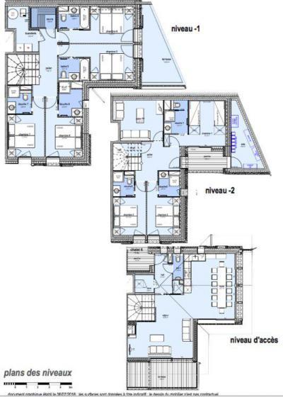 Holiday in mountain resort 8 room apartment 16 people (I6) - Le Hameau de Caseblanche - Saint Martin de Belleville - Plan