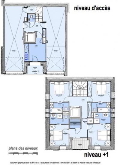 Holiday in mountain resort 8 room apartment 16 people (L2) - Le Hameau de Caseblanche - Saint Martin de Belleville - Plan