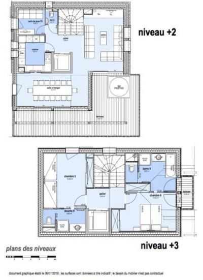 Holiday in mountain resort 8 room apartment 14 people (M1) - Le Hameau de Caseblanche - Saint Martin de Belleville - Plan