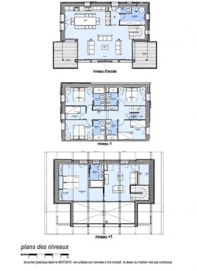 Holiday in mountain resort 7 room apartment 14 people (E13) - Le Hameau de Caseblanche - Saint Martin de Belleville - Plan
