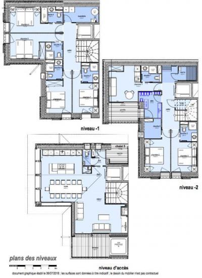 Holiday in mountain resort 8 room apartment 14 people (I5) - Le Hameau de Caseblanche - Saint Martin de Belleville - Plan