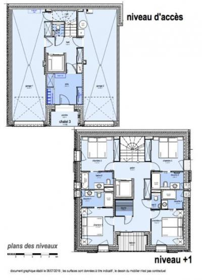 Holiday in mountain resort 8 room apartment 14 people (K3) - Le Hameau de Caseblanche - Saint Martin de Belleville - Plan