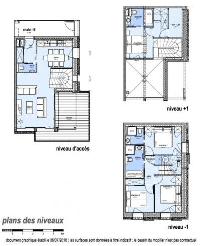 Holiday in mountain resort 5 room apartment 8 people (E16) - Le Hameau de Caseblanche - Saint Martin de Belleville - Plan