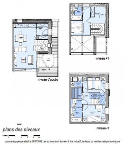Holiday in mountain resort 4 room apartment 6 people (C22) - Le Hameau de Caseblanche - Saint Martin de Belleville - Plan