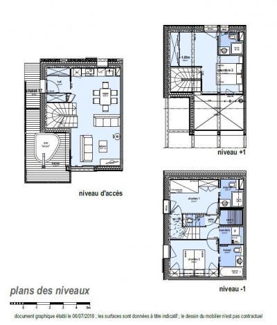 Holiday in mountain resort 4 room apartment 6 people (D17) - Le Hameau de Caseblanche - Saint Martin de Belleville - Plan