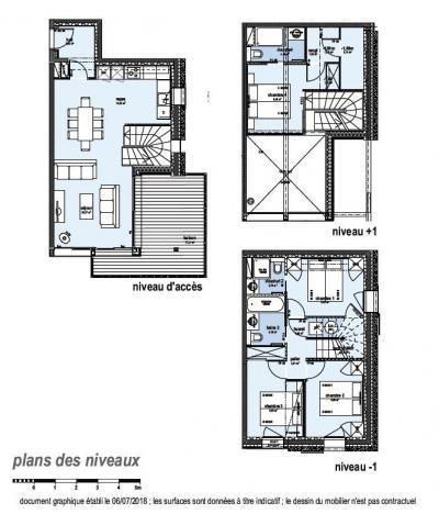 Holiday in mountain resort 5 room apartment 8 people (C24) - Le Hameau de Caseblanche - Saint Martin de Belleville - Plan