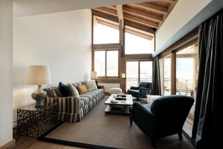 Holiday in mountain resort 6 room triplex chalet 10 people (Peak a Vue) - Le Hameau de Caseblanche - Saint Martin de Belleville - Living room