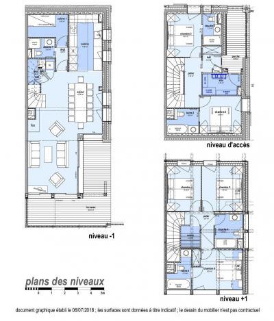 Holiday in mountain resort 7 room duplex chalet 12 people (Bouc Blanc) - Le Hameau de Caseblanche - Saint Martin de Belleville - Plan