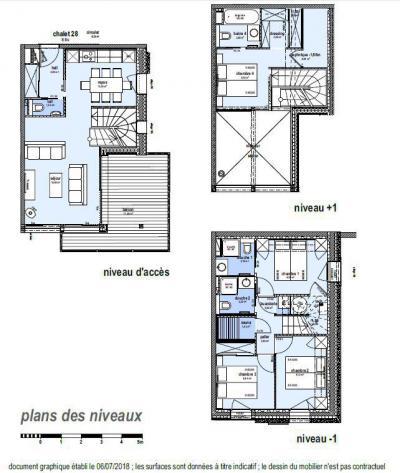 Holiday in mountain resort 5 room triplex chalet 8 people (Winterfold) - Le Hameau de Caseblanche - Saint Martin de Belleville - Plan