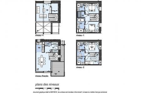 Holiday in mountain resort 5 room quadriplex chalet 8 people (Augustine) - Le Hameau de Caseblanche - Saint Martin de Belleville - Plan